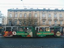 Architecture and buildings of the city of Lviv.  stock photo