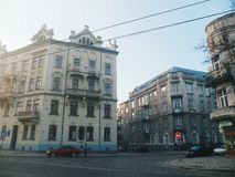 Architecture and buildings of the city of Lviv.  royalty free stock photography