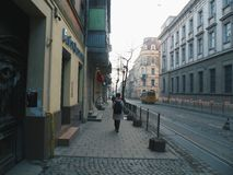 Architecture and buildings of the city of Lviv.  royalty free stock photos