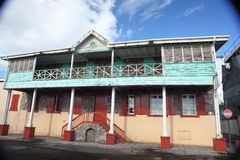 Architecture Buildings in Dominica, Caribbean Islands Stock Photo