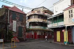 Architecture Buildings in Dominica, Caribbean Islands Royalty Free Stock Photo