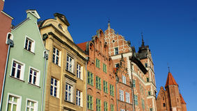 Architecture and buildings in Gdansk, Poland Royalty Free Stock Image