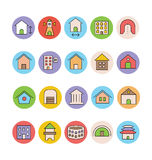 Architecture and Buildings Vector Icons 5 Stock Images