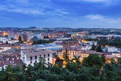 Architecture of Burgos. Aeria panorama of the city. Burgos, Castile and Leon, Spain Royalty Free Stock Image