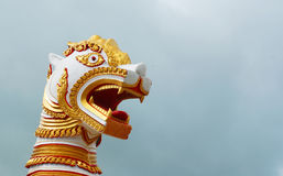 Architecture of burmese lion Royalty Free Stock Image