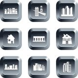 Architecture buttons Royalty Free Stock Images