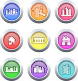 Architecture buttons Stock Images