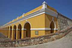Architecture of Cartagena de Indias in Colombia Royalty Free Stock Photo
