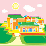 Architecture cartoon Royalty Free Stock Photo