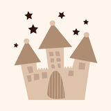 Architecture castle flat icon elements,eps10 Stock Images