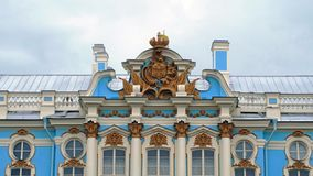 The architecture of Catherine Palace. Pushkin. Catherine Park. 3840x2160. The architecture of Catherine Palace. Pushkin. Catherine Park stock video