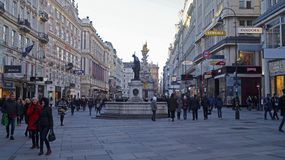 Architecture of the central part of Vienna. 2019 royalty free stock images