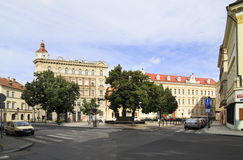 Architecture in the centre of Prague. Royalty Free Stock Photos