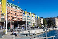 Architecture in the centre of Stockholm, Sweden Stock Photo