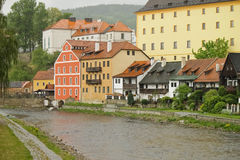 Architecture of Cesky Krumlov royalty free stock images