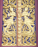 Architecture of a character in literature in thai painting style Royalty Free Stock Photography