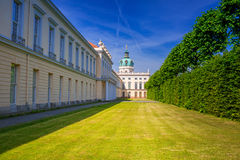 Architecture of Charlottenburg palace in Berlin Stock Image