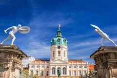 Architecture of Charlottenburg palace in Berlin Royalty Free Stock Images