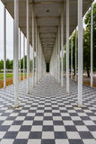 Architecture Checkerboard Floar Columns Leading Line Perspective Illusion Royalty Free Stock Images