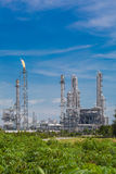 Architecture of Chemical refinery plant with blue sky Stock Photography