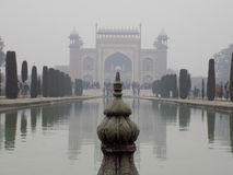 Architecture chez le Taj Mahal Photo stock