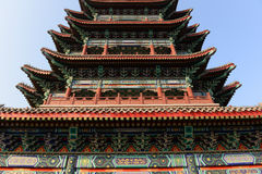 Architecture of chinese ancient stupa Stock Image