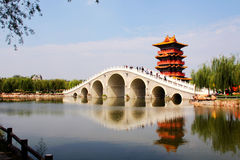 Architecture of Chinese Classical Garden Stock Photos
