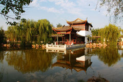 Architecture of Chinese Classical Garden. Architecture of beautiful Chinese Classical Garden. zhengzhou.Henan.China stock photo