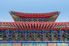 Architecture of Chinese temple in Thailand. Royalty Free Stock Images