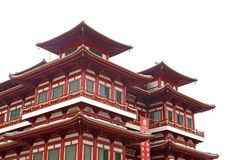 Architecture chinoise de construction de temple Photo stock