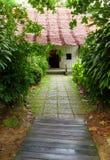 Architecture chinoise de ferme dans les tropiques Images libres de droits