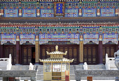 Architecture chinoise de temple Images libres de droits