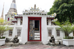 Architecture chinoise en Wat Pho, Bangkok Photographie stock