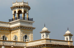 Architecture of Chowmahela Palace,built in 1880s,by Nizams of Hyderabad ,India Royalty Free Stock Photo