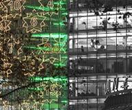 architecture christmas neon Στοκ φωτογραφία με δικαίωμα ελεύθερης χρήσης