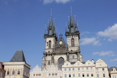 Architecture. Church in Prague, Czech Republic Royalty Free Stock Images