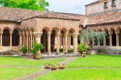 Architecture of Church San Zeno in Verona Royalty Free Stock Photos