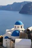Architecture church in Santorini Stock Image