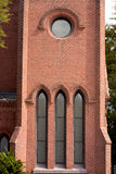 Architecture: Church Windows Stock Photo