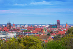 Architecture of city center of Gdansk Royalty Free Stock Photography