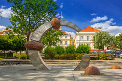 Architecture of the city hall of Pruszcz Gdanski Stock Images