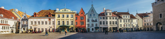 Architecture on the City Hall square in Tallinn, Estonia Royalty Free Stock Photography