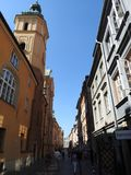 The architecture of the city of Warsaw in Poland stock photo