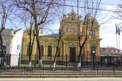 Architecture of classicism. Krasnodar. Krasnaya  street in Krasnodar, Russia Royalty Free Stock Photography