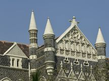 Architecture: Close up of a Building with Roof Tiles and Stone Masonry Near Mumbai,India Stock Photo
