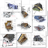 Architecture collection Royalty Free Stock Photography