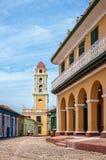 Architecture coloniale au Trinidad, Cuba Image stock