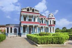 Architecture coloniale aux studios du monde de Hengdian, Chine Images stock