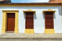 Architecture coloniale blanche Images libres de droits