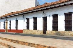 Architecture coloniale dans Cali image libre de droits